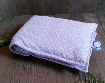 Aromatherapy Neck Pillow Flax Seed Organic Lavender Heating Herbal Therapy Wrap Microwave Heating Pad Purple White Geometric Free Shipping