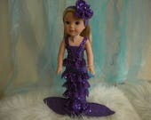 American Girl Wellie Wisher 4-pc. Purple Mermaid Outfit.