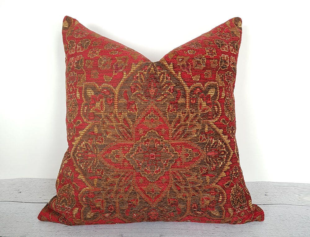 Southwestern Pillow Cover Southwestern Cushion Brick Red