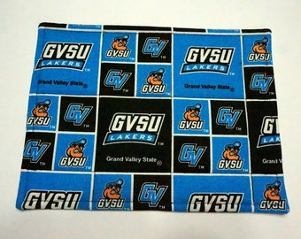 Two Grand Valley State University Snack Mats or Mug Rugs for Dorm, Office or home Desk, Dining & End Table, For Coffee Mug, Candles and More