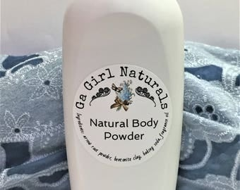 Butt Naked Type  Natural Deodorizing Body Powder, Dusting Powder, Perfume Body Powder,Talc Free, 8 Ounce Shaker Top