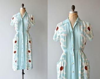 High Strata dress | vintage 1940s dress | cotton floral 40s dress