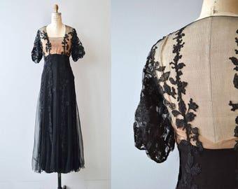 Spirit Folly dress | vintage 1930s long dress | silk chiffon 30s dress