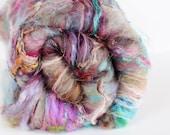 Cotillion 3.6 oz  Wool - Merino // Art Batt // Wool Art Batt for spinning or needle felting