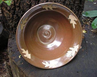 White Oak Leaf Large Mixing Bowl, serving bowl, fruit, pasta, salad,