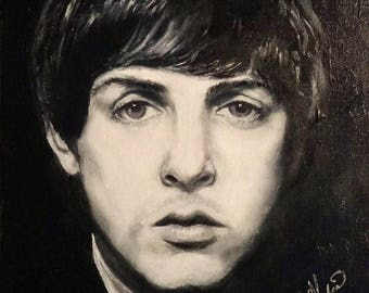 Paul McCartney, art print from original painting by Roseann Madia