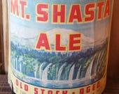 YAVA Glass - Recycled Vintage Mt. Shasta Ale Bottle