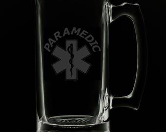 Paramedic 25 Ounce Personalized Beer Mug