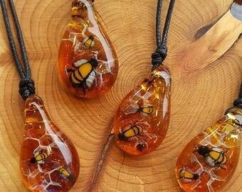 Honeybee Hive pendant