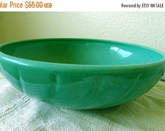 christmasinjuly Large JADE GREEN Bowl, California Pottery
