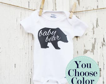 Baby Bear Bodysuit, Baby Shower Gift, Newborn Outfit, Newborn Photo Prop, Several Colors & Sizes
