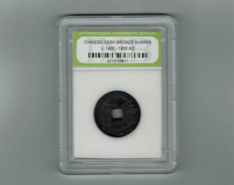 Ancient Chinese cash bronze nummis  coin C- 1400 -  1800- AD