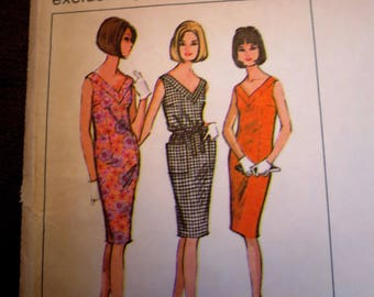 1960s V-Neck Dress Pattern - McCall's Promotional - Medium