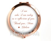 Rose Gold Mother of the Bride Compact Mirror, Mother of the Bride Gift, Personalized Mirror, Purse Mirror Style 842