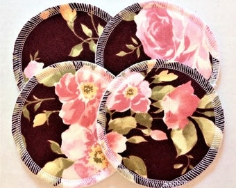 2 Pairs of Cloth Nursing Pads - Pink Roses