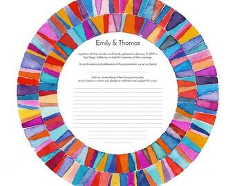Quaker Marriage Certificate || Kaleidoscope