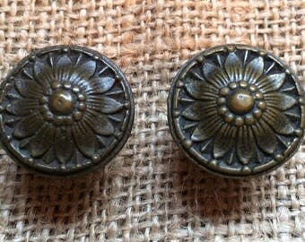 Set of 2 Matched MCM Knobs, ShAbBy cHiC Glamour! Furniture Knobs Restoration