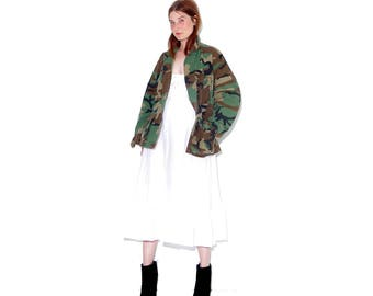 your new favorite jacket / mens small / army jacket camo jacket camouflage military jacket military coat boyfriend jacket oversized