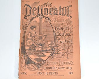 May 1891 Delineator - Antique Women's Magazine