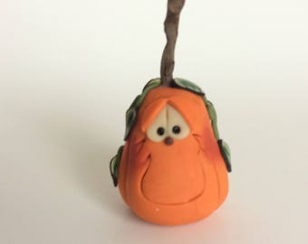 Polymer Clay Halloween Pumpkin by Helen's Clay Art