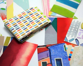 Set of Jotters, Notebook Variety Pack, Surprise Pack Notebook, Exercise Book from Reclycled Wallpaper Taster