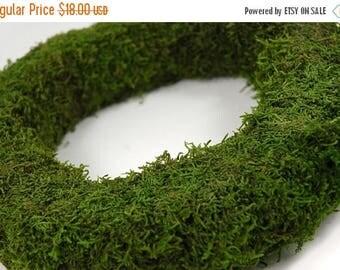 "Save25% Moss Wreath-12"" Moss covered wreath-Preserved Moss-Wedding wreath-Wall decor"