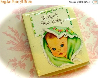 ON SALE Gorgeous Vintage Baby 1940s Antique Baby Announcements and Envelopes New in Package  Card Lot