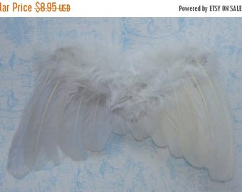 ON SALE Gorgeous White Feathered Fairy Angel Wings