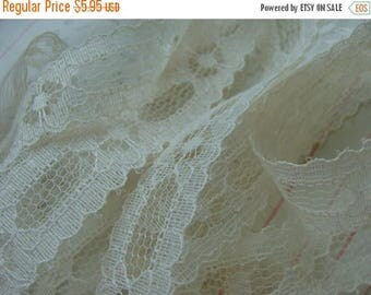 ONSALE Gorgeous Antique English Netted Lace Yardage