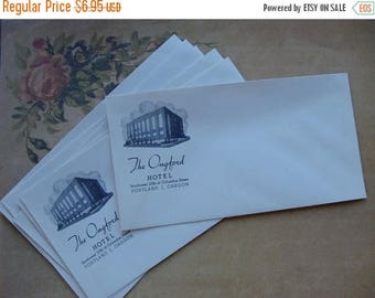 ONSALE Six Antique 1920s The Ongford Hotel unused Envelopes