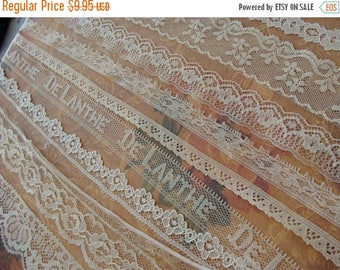 ONSALE 9 Yards Vintage and Antique Lace Lot N024 9 Yards