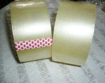 """2 Rolls Clear Packing Tape 2"""" 55 yards 2 Rolls"""