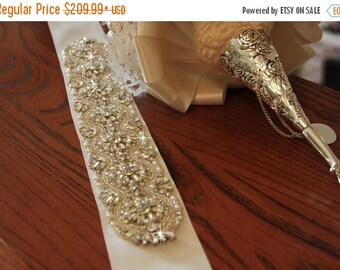 "SALE 20% 24"" Wedding Sash Belt, Bridal Belt, Sash Belt, Wedding Dress Sash, Crystal Rhinestone Belt"