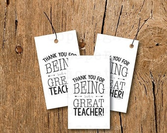 10% Sale INSTANT UPLOAD - Teacher Appreciation Tags, Teacher Gift Tags,Thank You Teacher Card,Teacher Thank You Tag,Teacher Gift, Teacher Ho