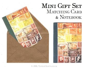 Sunset Mini Gift Set - Matching Travel Notebook & Notecard