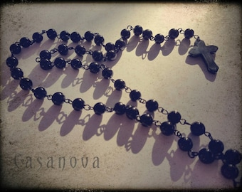 Hematite Crucifix (Necklace No. 1)