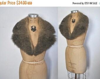 SALE Genuine Fur Collar / 1970s boho