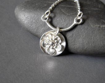 Sterling Charm Necklace, Sterling Silver Small Charm Necklace, Hand Forged Necklace, OOAK Necklace, Unique Charm