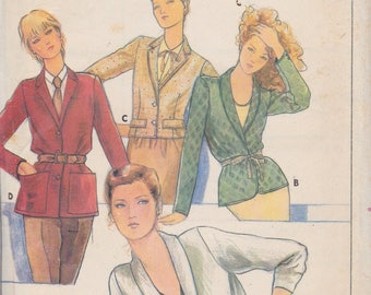 Butterick 6466 Misses' Jacket Size 16 Vintage UNCUT Pattern Rare and OOP Easy Pattern
