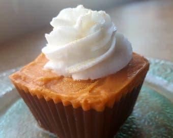 Cupcake Soap - Pumpkin Latte Cupcake Soap - Holiday - Fall - Pumpkin - Dessert - Stocking Stuffer - Christmas