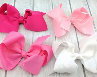 "4"" Boutique Hair Bow-Medium Hair Bows-Alligator Clip"