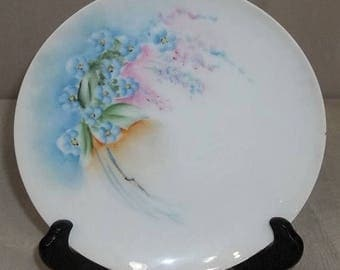 ON SALE Antique HP Hand Painted Forget-Me-Nots Flowers Floral