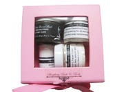 Facial Gift Set includes mask, face cream, micellar water, grains - cleansing grains - in beautiful pink gift box