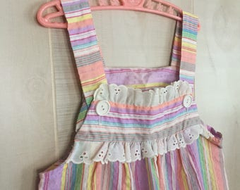 Sweet vintage sherbet stripe girls dress from Sears 6X