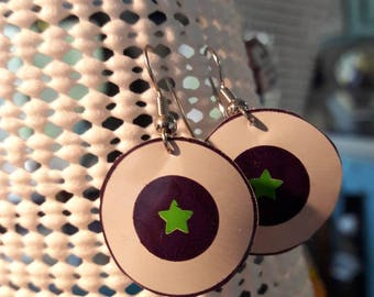 Beer can earrings, with stars!