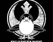 star wars PORG Resistance the last jedi t-shirt screen printed unisex ladies womens youth porgs rebel alliance rebellion