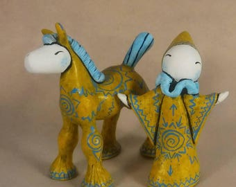 Euphrosyne and Joyful #2/10 of A Limited Edition Poppet/Foppet Pair