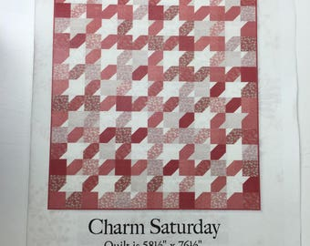 """Charm Saturday Quilt Kit by Moda featuring """"French General Favorites"""" fabric"""