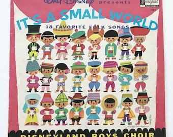 Vintage Walt Disney Children's Record It's A Small World Mary Blair LP Vinyl Album Disneyland