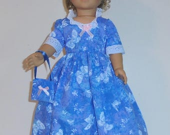 Colonial  Dress designed for American Girl Felicity,Elizabeth or Kirsten 3 pc.. No. 712